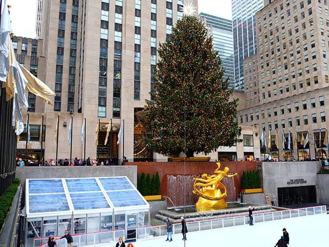 Skridskoåkning i New York - Rockefeller isrink