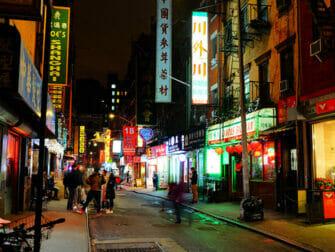 Chinatown i NYC - Byggnader
