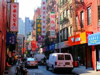Chinatown i NYC - Typisk byggnad
