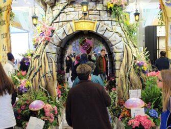 Macy's i New York - Flower Show dekorationer