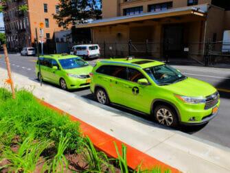 Taxi i New York - Grön taxi