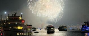 Båtkryssningar 4th of July i New York