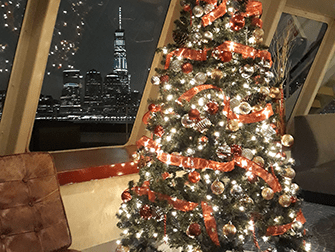 Middagskryssningar på julafton iNew York - Julgran