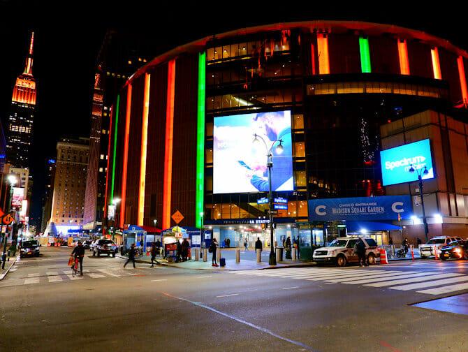 Madison Square Garden i New York - Fasad