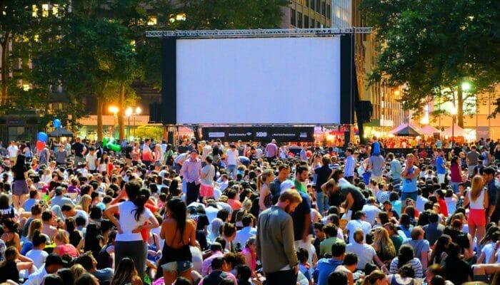 Free Films i Bryant Park - Filmkväll
