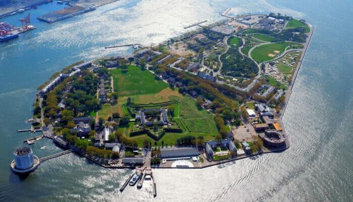 Governors Island New York - Utsikt ovanifrån