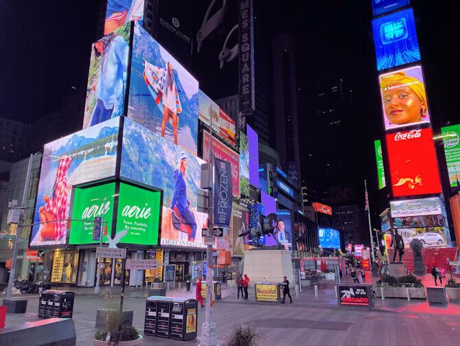Times Square i New York - Kvällstid