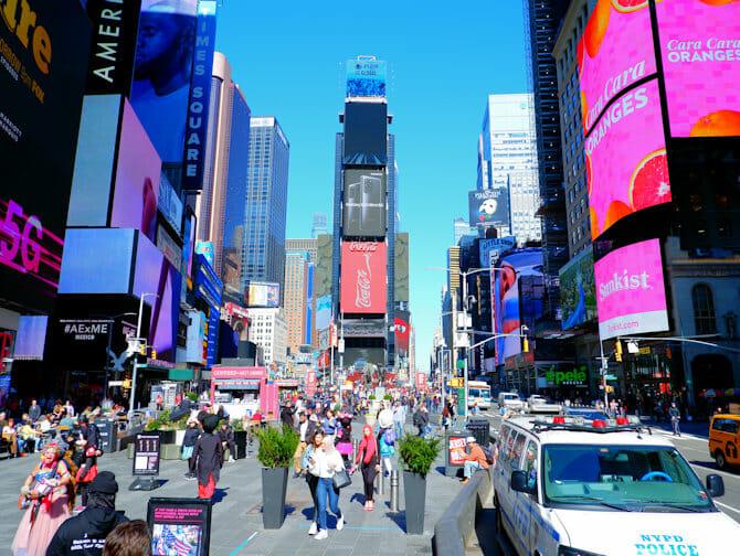 Times Square i New York - Dagtid