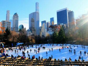 Skridskoåkning i New York - Central Park