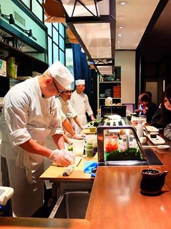 Den bästa sushin i New York - Takahachi kockar