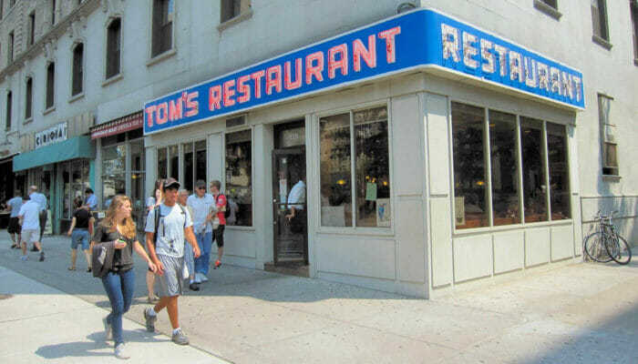 Frukost i New York. Toms Restaurant