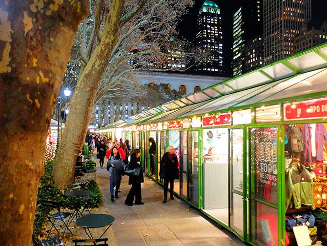 Julsäsongen i New York - Bryant Park