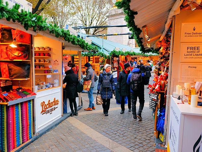 Julsäsongen i New York - Julmarknad