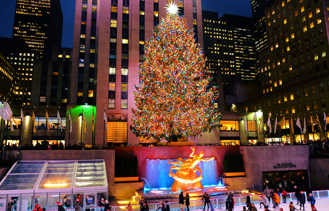 Julsäsongen i New York - Rockefeller Tree