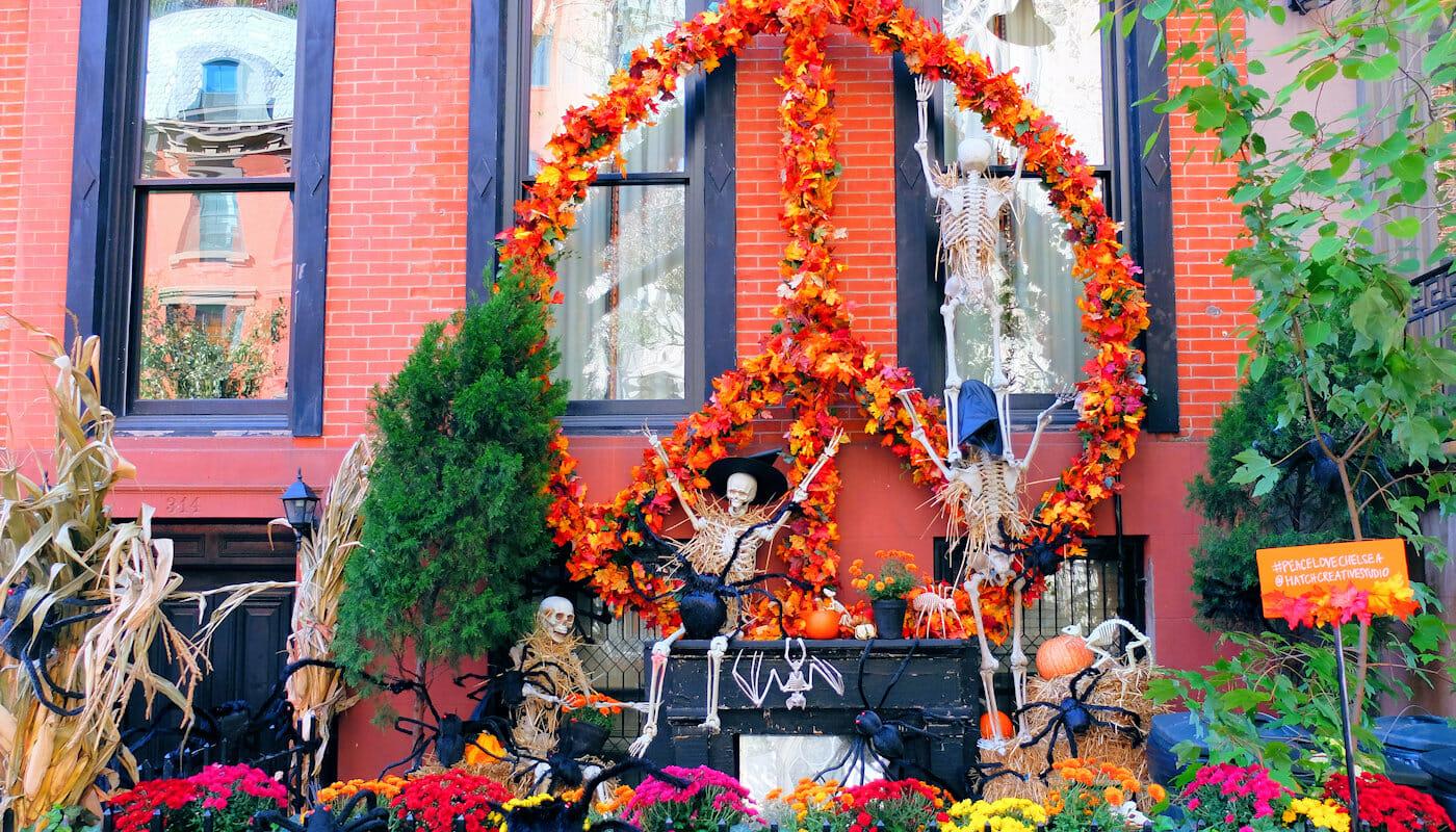 Halloween i New York - Husdekorationer
