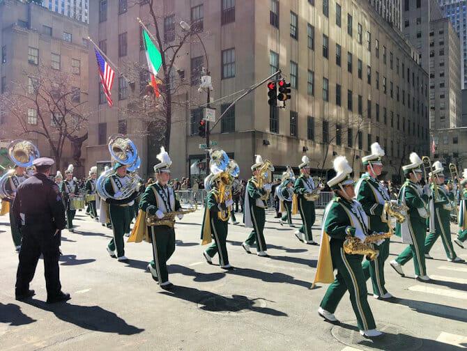 St Patricks Day i NYC - Paraden
