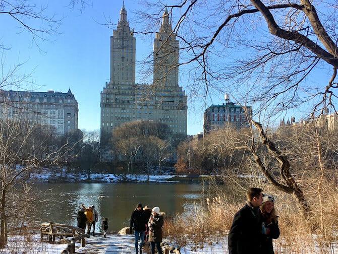 Nyårsdagen i i NYC - Skridskoåkning i Central Park