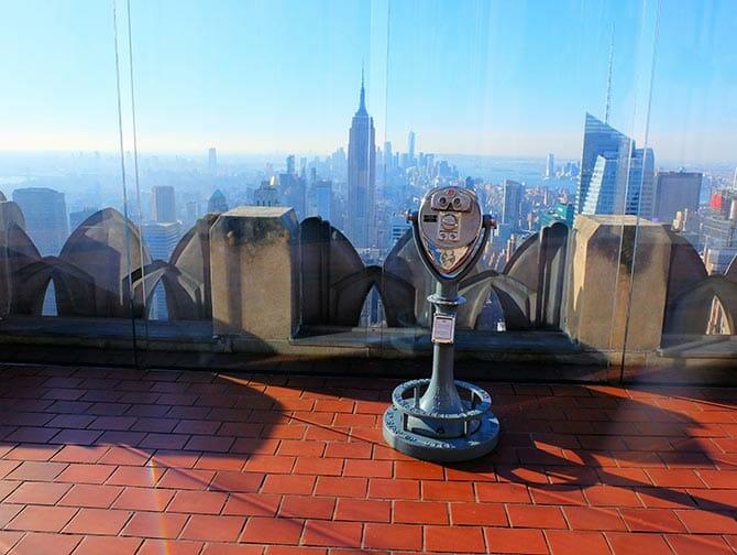 Nyårsdagen i New York - Top of the Rock vid solnedgång