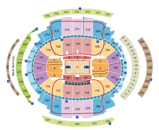 New York Knicks biljetter - Madison Square Garden platskarta