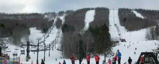 Skidresa eller snowboardresa under en dag i New York