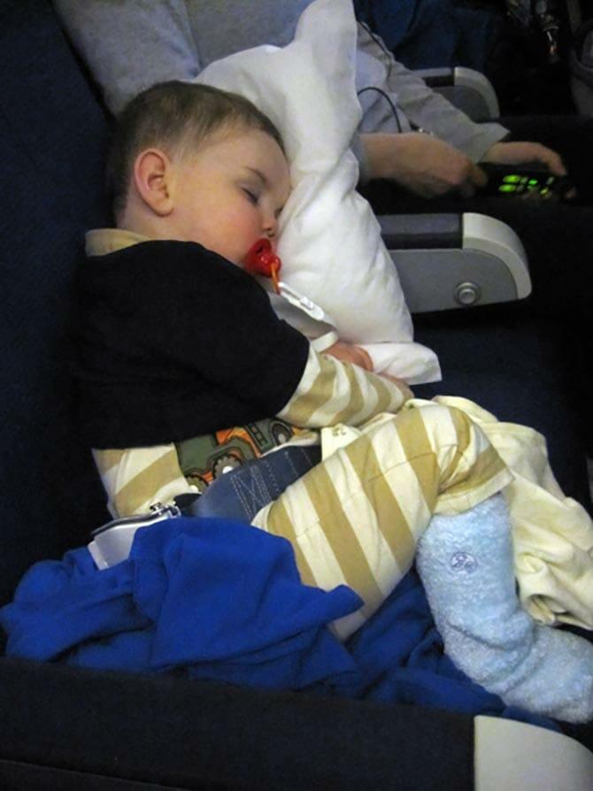 Flyga med småbarn till New York