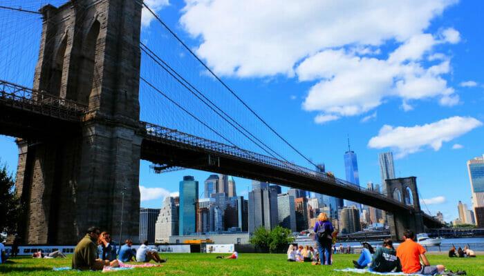 Brooklyn Bridge Park i New York - Avkoppling