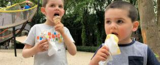 Äta ute tillsammans med barn i New York