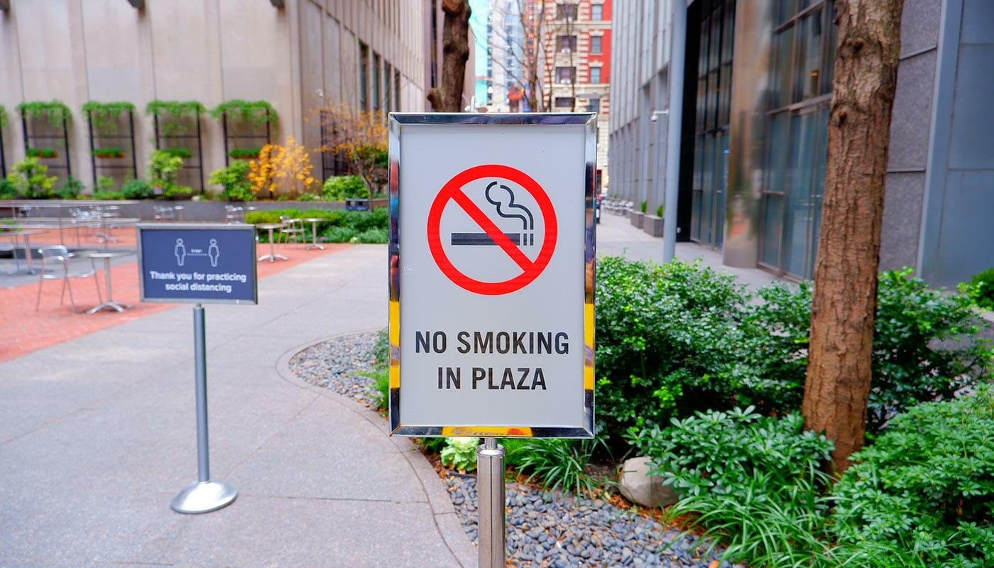 Rökning i NYC - Rökning förbjuden i parker