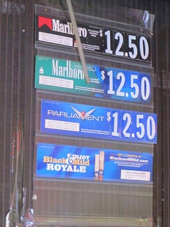 Rökning i NYC - Priser