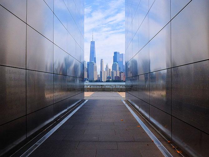Empty Sky Memorial i New Jersey - Utsikt skyline