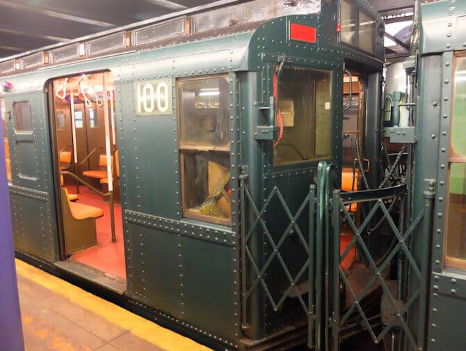 Antika tunnelbanevagnar i NYC - Specialtåg