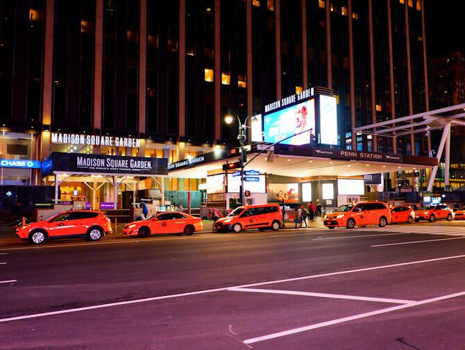 Madison Square Garden i NYC - Billboard