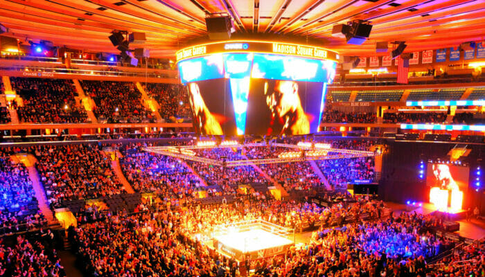 Madison Square Garden i NYC - Insidan