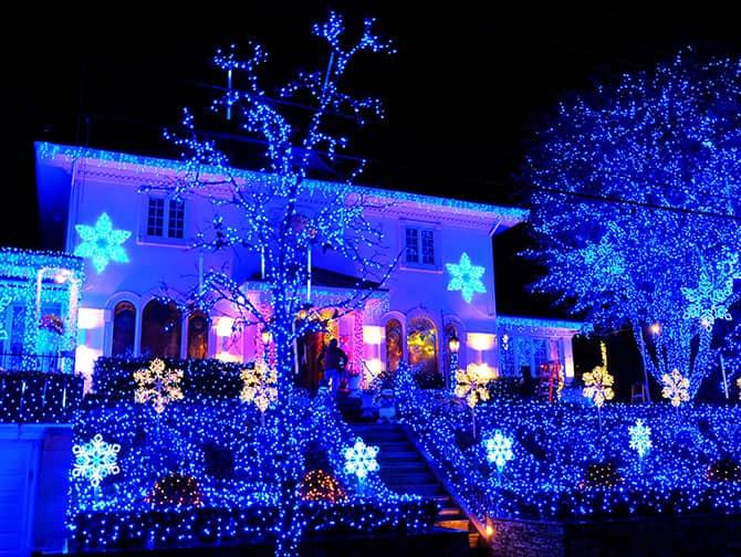 Dyker Heights Christmas Lights - Blåa ljus