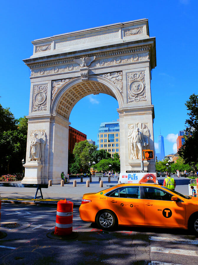 Guidad cykeltur på Manhattan - Washington Square Park