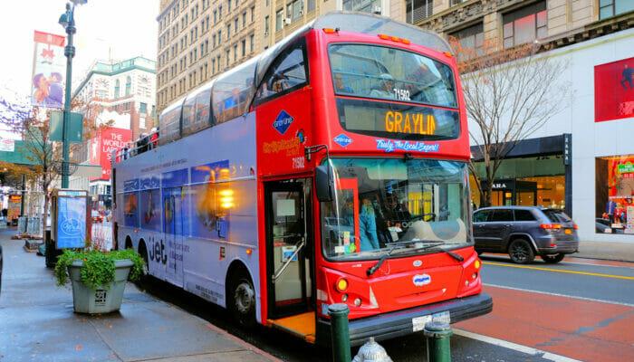 Gray Line Hop on Hop off buss i New York - Påstigning