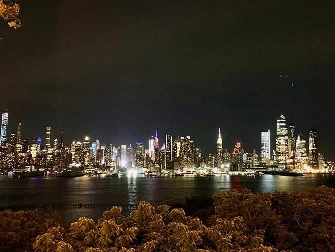 New York Night Tour - Skyline från New Jersey