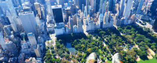 Helikoptertur utan dörrar i New York