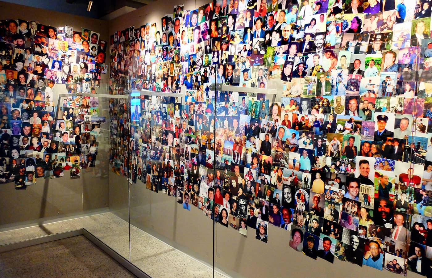 911 Tribute Museum i New York - Fotovägg