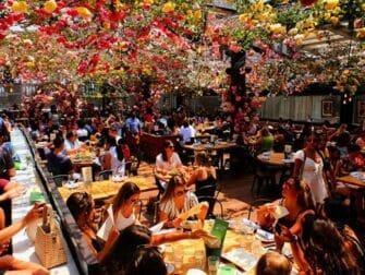 Restauranger i New York - Birreria takbar terrass