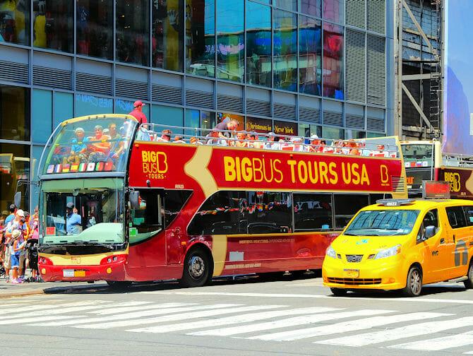 Skillnaden mellan New York Sightseeing Flex Pass och Sightseeing Day Pass - Hop on Hop off buss