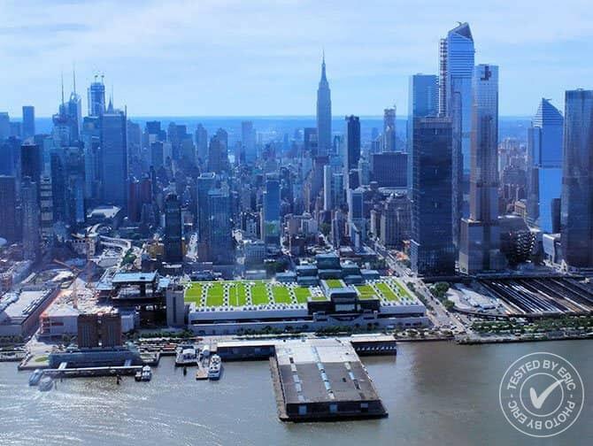 Helikoptertur i New York - Flyga över Hudsonfloden