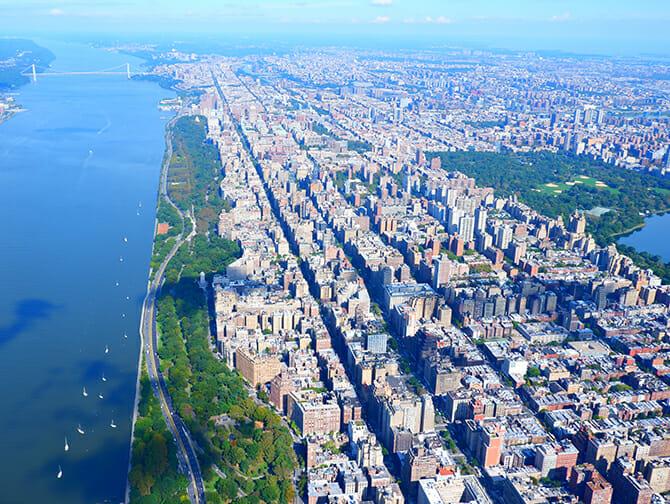 Helikoptertur i New York - Utsikt över Central Park