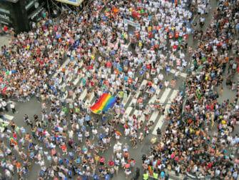 Gay Pride i NYC - Folkmassa