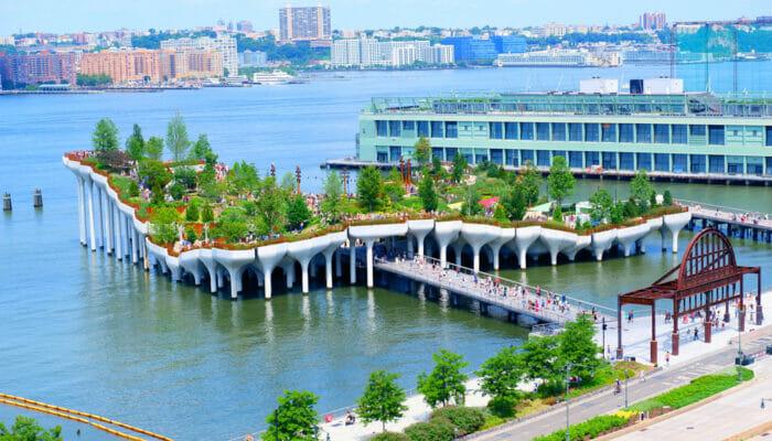 Little Island i New York - Hela ön