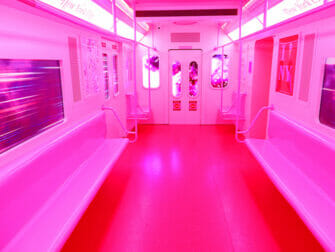 Museum of Ice Cream i New York - Rosa tunnelbana