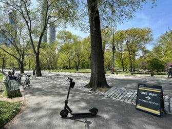 Hyra elsparkcykel i New York - Central Park