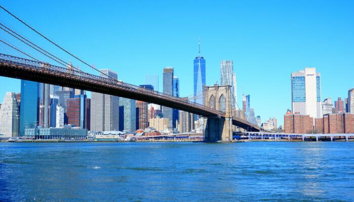 Manhattan i New York - Brooklynbron